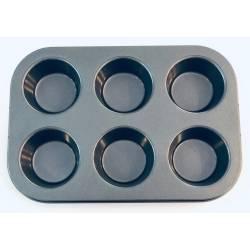 Molde teflon cup cakes  x 6